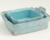 Turquoise Nesting Tray (Set of 2)