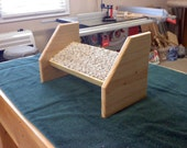 desk foot rest,pine with carpeted foot rest