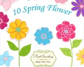 10 Spring Flowers - Personal Or Small Commercial Use (P018)