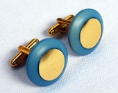 SALE Sky Blue Upcycled Cufflinks - Unisex Recycled Accessories - Stocking Fillers Stocking Stuffers