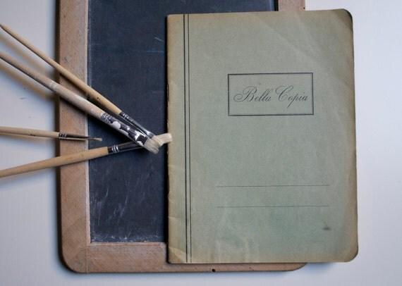 Vintage italian notebook unused - Bella copia - back to school
