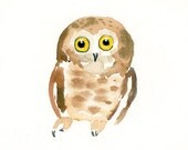 OWL Kid's Wall Art -Nursery decor- Playroom Decor-Nursery wall art-owl art