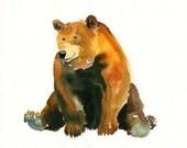 BEAR 10X8inch print-Children's Decor-Art for Children-kids wall art-Nursery art -Animal lover