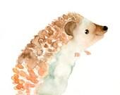 ALPHABET nursery art print- ANIMALS alphabet- H for hedgehog 5x7inch Print-baby wall art-kids wall art-Children art