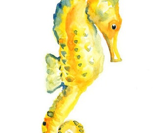SEAHORSE by DIMDImini ACEO print