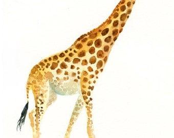GIRAFFE-5x7 Print-Children's Decor-Art for Children-kids wall art-Nursery art -Animal lover-african animal