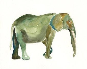 ELEPHANT by DIMDImini ACEO print