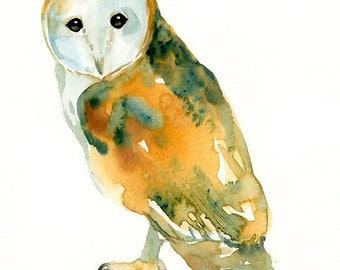 BARN OWL- 5x7 Print-Art Print-Wall decor-Giclee Print