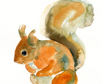 ALPHABET ANIMAL  S for Squirrel by DIMDImini 5x7 Print