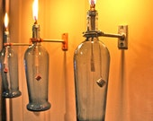 HARDWARE ONLY - 3 Wine Bottle Oil Lamps  - DIY Oil Lamp - Use Your Own Bottles - Hostess Gifts