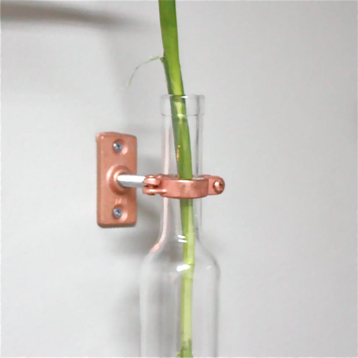 1 wine bottle hanging flower vase hanging vase wall for How to make flower vases out of wine bottles