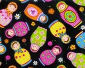 Timeless Treasures Matrushka Print Fabric, 1 yard