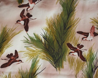 Soaring Birds  Print Cotton Fabric, 1 yard