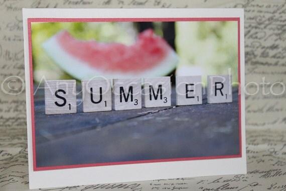 Photo Card Watermelon Summer