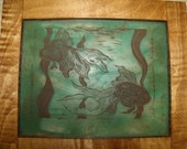 Reserved for Debra: Fancy fish on stained glass