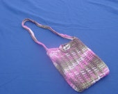 Pink camo pouch purse