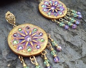 RESERVED for ManiTheUncanny SOLEIL Crystal Statement Gypsy Boho Earrings