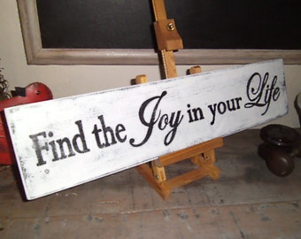 Handpainted Finding Joy sign