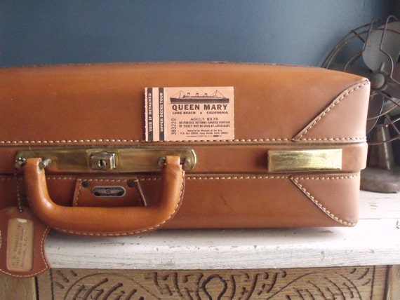 American Tourister Leather Suitcase
