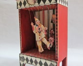 RESERVED: Clown Marionette Circus Box Shrine