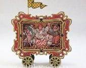 Vintage Circus Train Clown Car -Altered Altoid Tin
