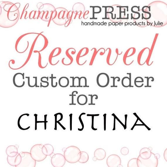 Bachelorette Invitations for Christina