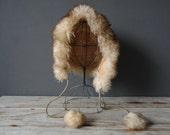 Warm Authentic Italian Lambs Fur Bonnet Hat