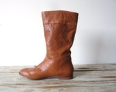 Soft Tan Leather Boots. Size 6.5. Like New