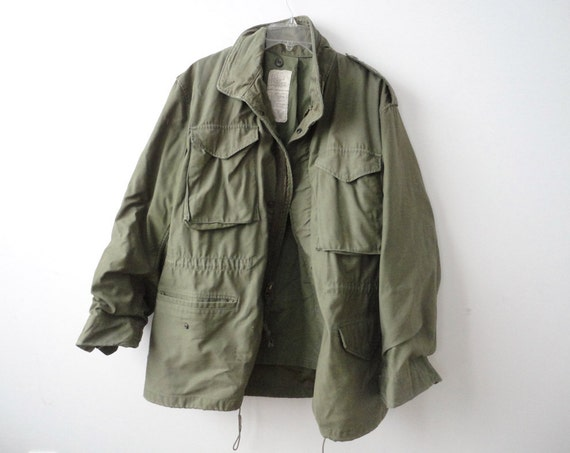 Authentic Green Army Jacket. Size Large