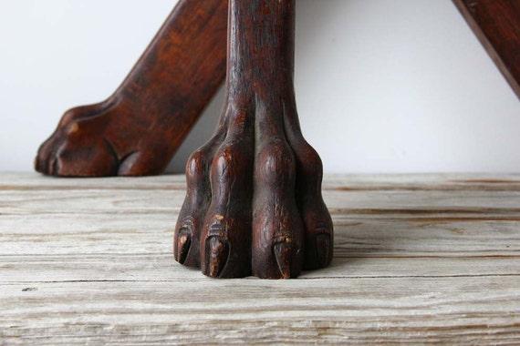 Carved Set Of 4 Solid Oak Lion S Foot Table Base