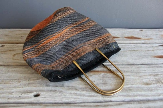 Woven Southwestern Bag with Brass Details