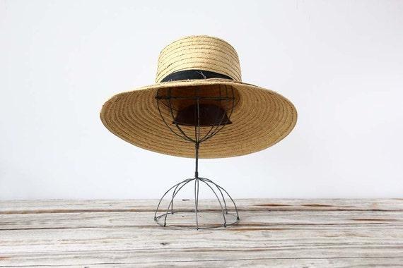 Oversize Vintage Straw Hat
