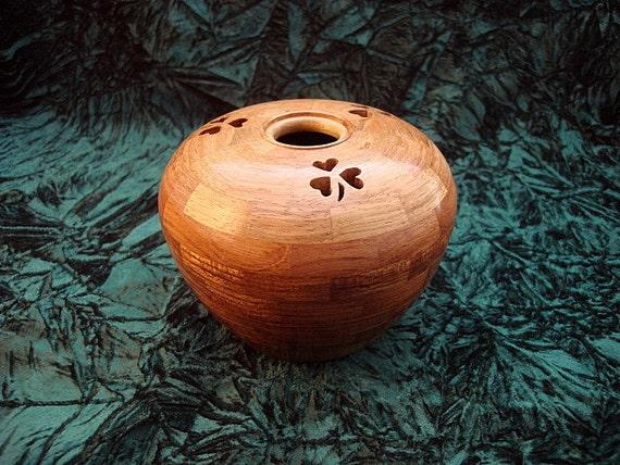 Wooden Shamrock Music Box Segmented and Lathe Turned
