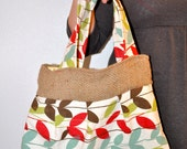 Bold Recycled Leaf Pattern Vintage Bag