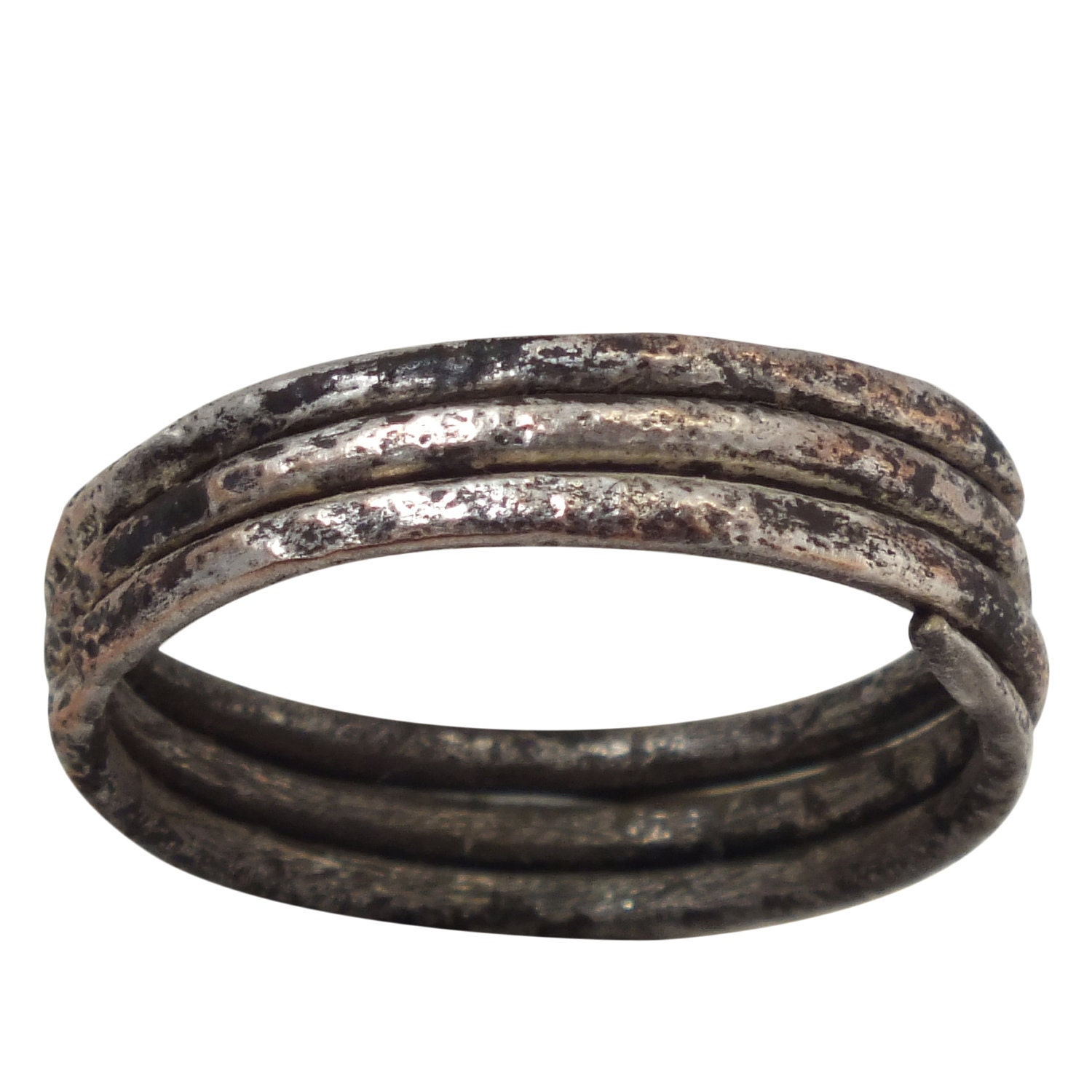 Viking Wedding Rings: Ancient Viking Mens Coil Wedding Ring 866-1067A.D. Size 9 1/2