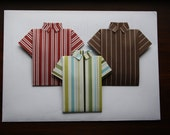 Origami Shirt Gift Card Holder With Vellum Envelope