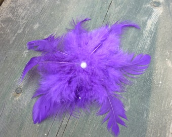 Purple Feather Fascinator