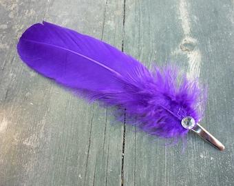 Purple Feather Fascinator