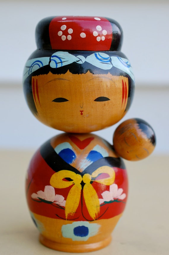Baby Gifts From Japan : Items similar to vintage japanese kokeshi doll mother in