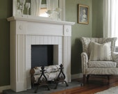 Faux Fireplace and Mantel in White