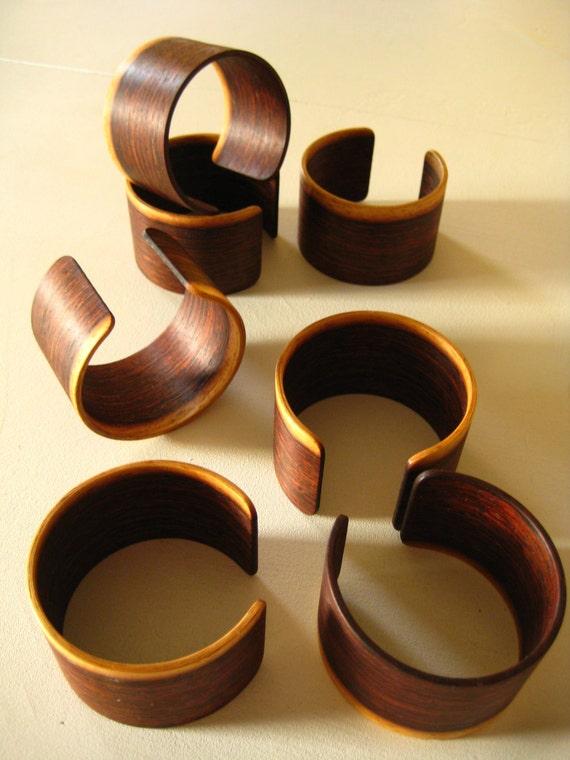 Wood Bracelet Cuff Bangle Rosewood