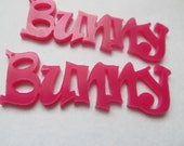 PIF 1 Large Hot Pink Bunny Laser Cut Pendants