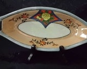Lustreware Serving Dish for Celery, Candy, Nuts. or Whatever Hand Painted