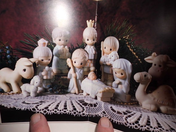 Reduced Price From160.00 --Now125.00----1982 Exquisite Precious Moments Nativity Set by Enesco  Hard to Find Pristine Condition