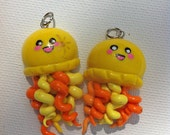 Yellow Cute Jellyfish Necklace