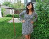 Adorable Long-Sleeved Floral Babydoll Dress M/L