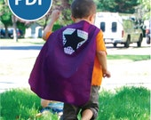 SALE Sizes 2-7 Superhero Cape PDF Sewing Pattern