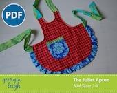Sale - The Juliet Apron Kid Sizes 2-8 PDF Sewing Pattern