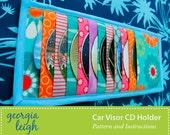 SALE Car Visor CD Holder Sewing Pattern PDF