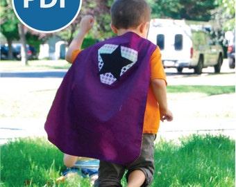 SALE Sizes 2-7 Superhero Cape PDF Sewing Pattern